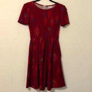 LuLaRoe Red Print Dress